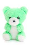 niedźwiadkowy zielony miś pluszowy Obraz Royalty Free