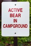 Niedźwiadkowy znak ostrzegawczy Obrazy Stock