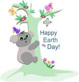 niedźwiedź świętuje ziemskiej dzień koali Zdjęcia Stock