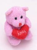 niedźwiedź 2 serce kochanie Zdjęcia Royalty Free