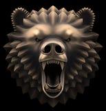 Niedźwiedź głowa royalty ilustracja