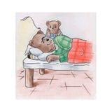 Niedźwiedź i jego miód royalty ilustracja