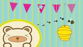 Niedźwiedź i pszczoły Obraz Royalty Free