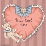 Niedźwiedź i serce Obraz Royalty Free