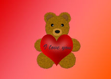 niedźwiedź ja kocham ty Zdjęcia Stock