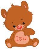 niedźwiedź ja kocham u Obrazy Royalty Free