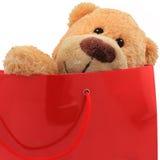 Niedźwiedź jako prezent Zdjęcia Royalty Free