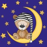 Niedźwiedź na księżyc ilustracji