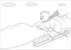 niedźwiedź obrysowywa gór nieb miś pluszowy Zdjęcia Stock