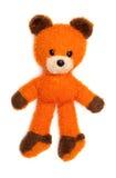 niedźwiedź odizolowywał starego pomarańcze zabawki biel Obrazy Royalty Free