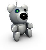 niedźwiedź odpłaca się robota techno zabawkę Obrazy Royalty Free
