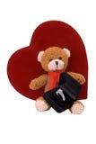 niedźwiedź pierścionka zaręczynowego teddy Zdjęcie Royalty Free