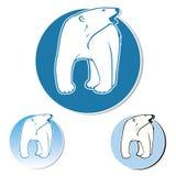 Niedźwiedź polarny etykietka Zdjęcia Stock