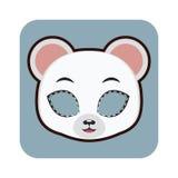 Niedźwiedź polarny maska dla różnorodnych godów, przyjęcia Zdjęcia Royalty Free