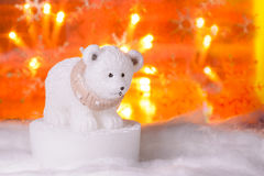 Niedźwiedź polarny, Szczęśliwy nowy rok 2017, boże narodzenia Obraz Stock