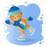 Niedźwiedź przy lodowiskiem ilustracja wektor