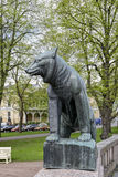 Niedźwiedź - symbol grodzki Pori Finlandia Obrazy Royalty Free