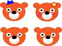 niedźwiedź twarz Obrazy Stock