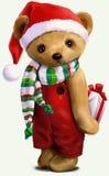 Niedźwiedź w odzieżowym akwarela obrazie Zdjęcie Royalty Free