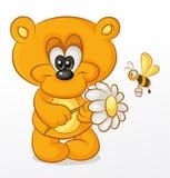 Niedźwiedź z kwiatem royalty ilustracja