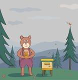 Niedźwiedź z miodem Obrazy Stock