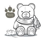 Niedźwiedź z scraft konturem Obrazy Stock