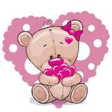 Niedźwiedź z sercami ilustracji
