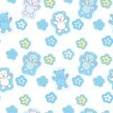 Niedźwiedź zabawek Bezszwowy wzór Fotografia Royalty Free