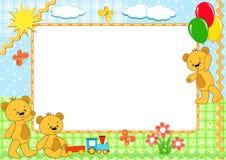 niedźwiedzi dzieci obramiają obramiającego s Zdjęcia Royalty Free