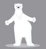 Niedźwiedzia polarnego postać z kreskówki również zwrócić corel ilustracji wektora Zdjęcie Stock