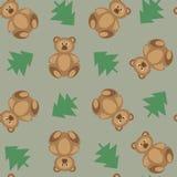 Niedźwiedzie ornamentują na zielonym tle ilustracji