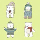 Niedźwiedzie polarni ustawiający Fotografia Royalty Free