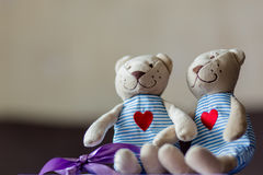Niedźwiedzie w miłości Zdjęcia Stock