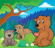 Niedźwiedzie w natura tematu wizerunku 1 ilustracja wektor