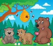 Niedźwiedzie w natura tematu wizerunku 3 royalty ilustracja