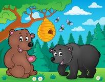 Niedźwiedzie w natura tematu wizerunku 4 ilustracja wektor