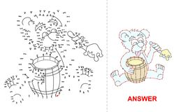 Niedźwiadkowa kropki gra Obraz Stock