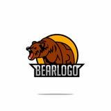 Niedźwiadkowy logo Obrazy Royalty Free