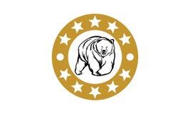 Niedźwiadkowy logo Zdjęcie Royalty Free