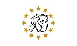 Niedźwiadkowy logo Zdjęcia Stock