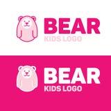 Niedźwiadkowy logo dla dzieciaka i dzieci Fotografia Royalty Free