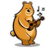 Niedźwiadkowy muzyk Royalty Ilustracja