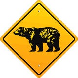 niedźwiadkowy znak ilustracja wektor