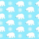 Niedźwiedzia polarnego wektoru Bezszwowy wzór obrazy royalty free