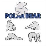 Niedźwiedzia polarnego wektoru ilustracja obrazy stock