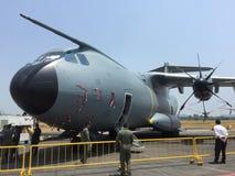 Niedawno dostarczający Malezyjski Airforce samolot w LIMA Obrazy Stock