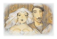 niedawno poślubia Fotografia Royalty Free