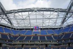 Niedawno Ulepszający Arthur Ashe stadium przy Billie Cajgowego królewiątka tenisa Krajowym centrum zdjęcia stock
