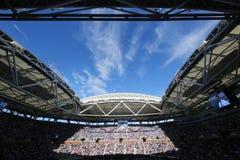 Niedawno Ulepszający Arthur Ashe stadium przy Billie Cajgowego królewiątka tenisa Krajowym centrum podczas us open 2016 turnieju zdjęcia royalty free