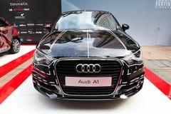 Niedawno wszczynający Audi A1 hatchback przy Audi mody festiwalem 2011 Obraz Stock